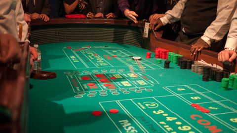 Craps table at a casino