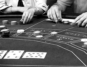 Baccarat being played