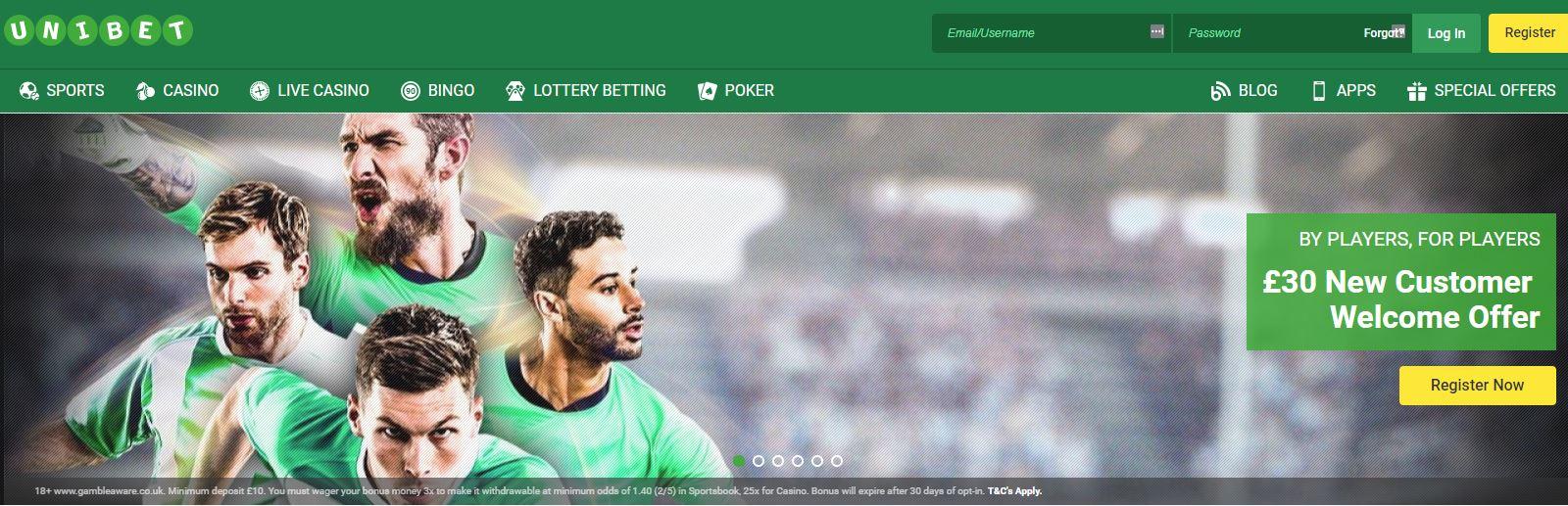 Unibet Homepage