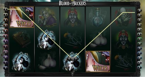 Wild symbols on Bloodsuckers Video Slot