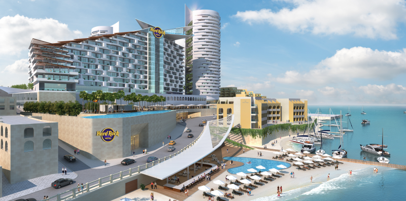Render of Hard Rock Hotel and Casino in Malta