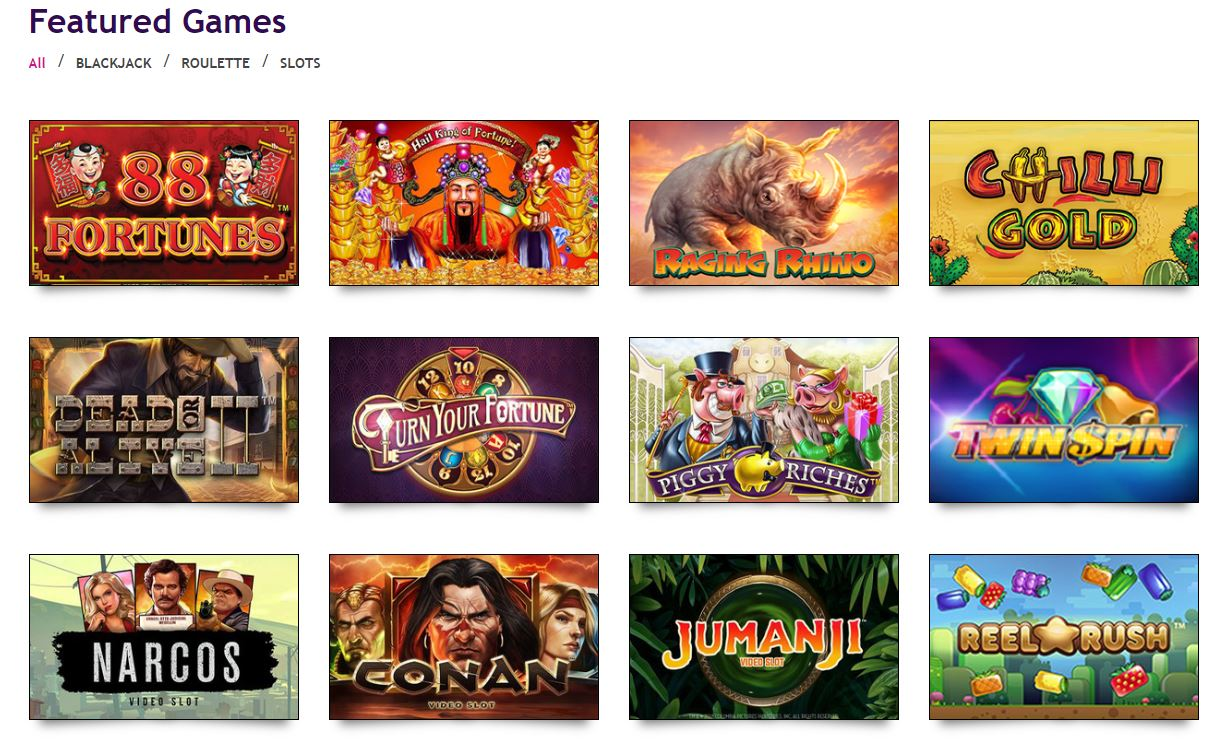 harrahs casino available games